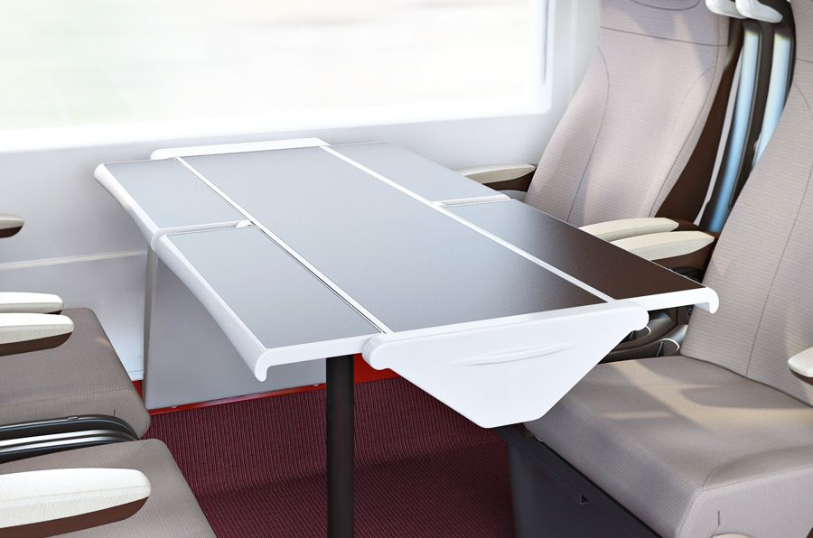 Table systems for rail transport
