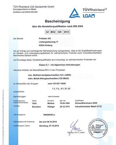 Zertifikat DIN 2303_08.10.2018